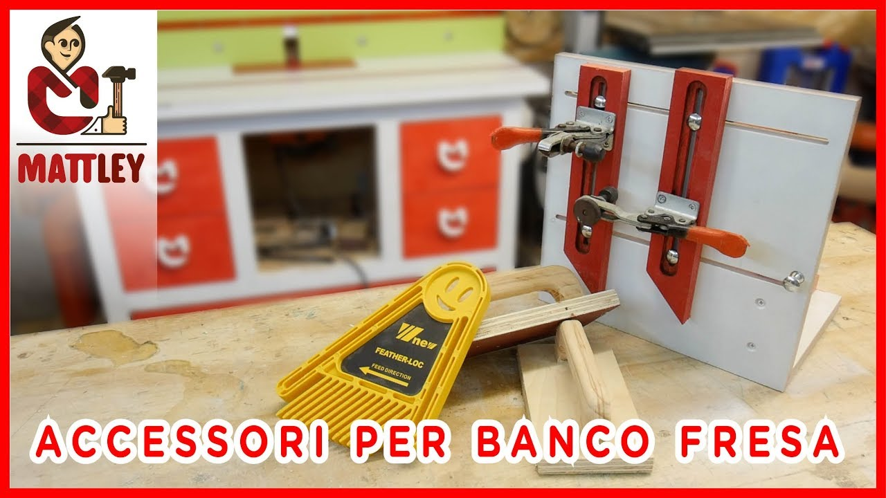 Accessori per il banco fresa fai da te youtube for Banco fresa fai da te progetto
