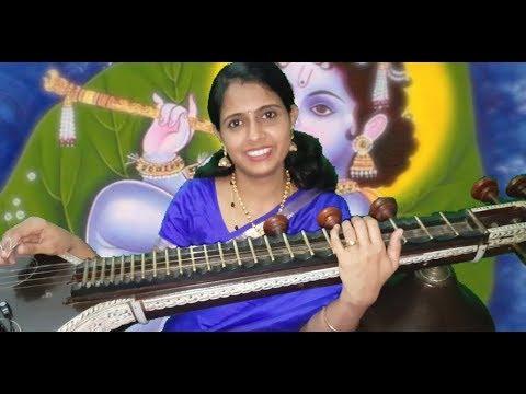 Krishna Nee Begane Baro | Veena by DhanyaRatheesh