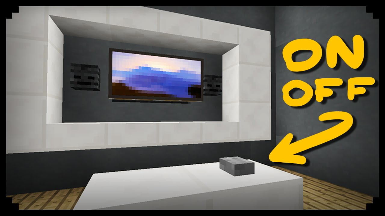 ✔ Minecraft: How to make a Working TV