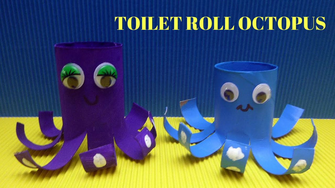 How to make a toilet paper roll octopus toilet paper roll crafts how to make a toilet paper roll octopus toilet paper roll crafts youtube jeuxipadfo Choice Image