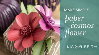 How to Make Paper Cosmos Using Frosted Paper