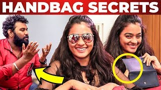 SECRET Pouch Inside Gayathrie's Handbag Revealed by Vj Ashiq | What's Inside Handbag | Super Deluxe