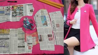 Women Midi Coat Pattern Cutting | Ladies Coat Jacket sewing | Formal Coat making in English Part 1