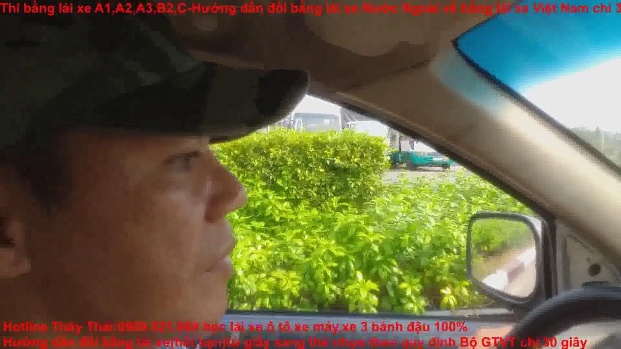 Trung Tâm Sát Hạch Lái Xe Trường Cao Đẳng GTVT TW3,0909.521.069 Thầy Thái mẹo khởi hành ngang dốc B2