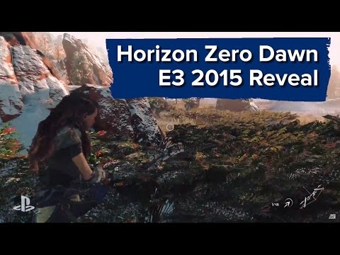 Horizon Zero Dawn Gameplay Reveal - E3 2015 Sony Conference - Robot Dinosaur Hunting