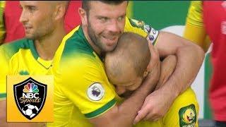 Teemu Pukki completes hat trick v. Newcastle | Premier League | NBC Sports