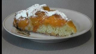 Быстрая выпечка. Пирог с абрикосами