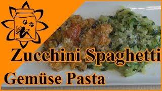 Zucchini Spaghetti kochen | Gemüse Pasta | Gemüse Nudeln | vegetarisch