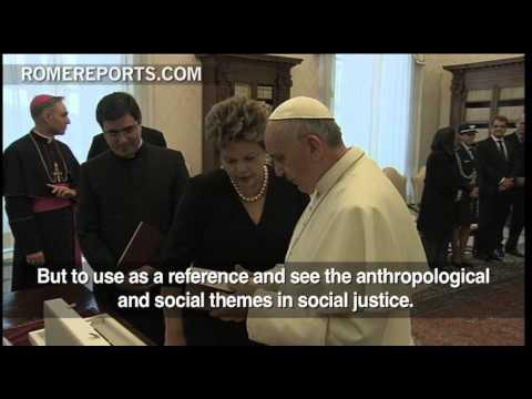 Brazilian President Dilma Rousseff hopes Pope goes to Brazil for World Youth Day