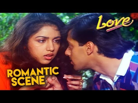 Salman Khan Romantic Scene | Love Hindi Movie | Revathi, Amjad Khan | HD1080p