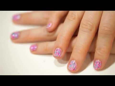 donut sprinkle nail art