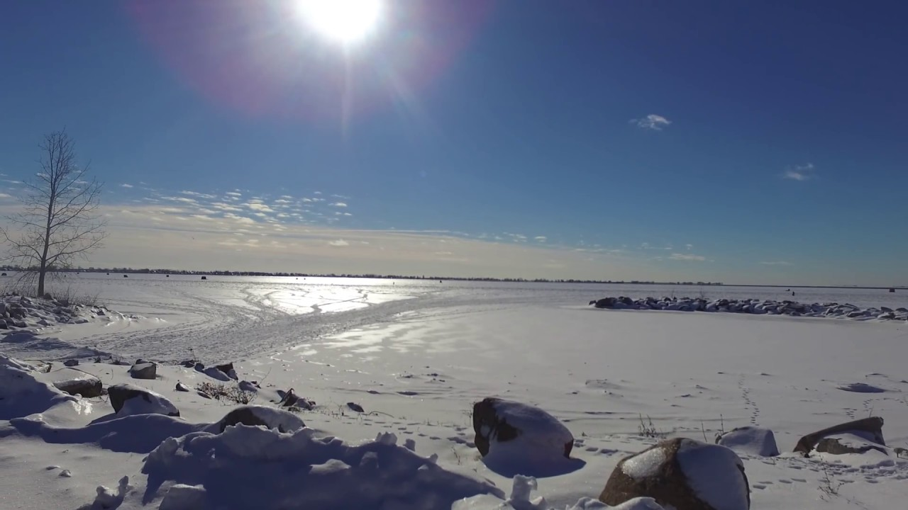 Ice fishing lake st clair michigan drone footage youtube for Michigan out of state fishing license