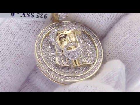.59 Carat Diamond Jesus Piece Pendant | .925 Silver Hip Hop Medallion