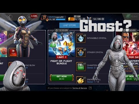 Ghost and Wasp Crystal Bundle Opening! - Marvel Contest of Champions