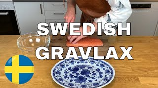 SWEDISH GRAVLAX | ( Cured Salmon ) - Easy Gravlax Recipe | How to make Gravlax 🐟