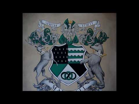 Custom Family Crests - Coat of Arms, Hand Painted Heraldry Art - 2. Edition