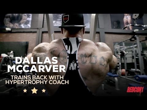 Dallas Mccarver Trains Back With Hypertrophy Coach & Matt Jansen 3 Week Outs Of 2016 Mr. Olympia