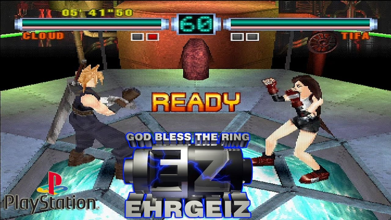 PS20 エアガイツ / Ehrgeiz  God Bless the Ring   Arcade Mode