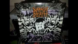 Napalm Death - From Enslavement To Obliteration Vinyl, LP, 1988 (Side A)