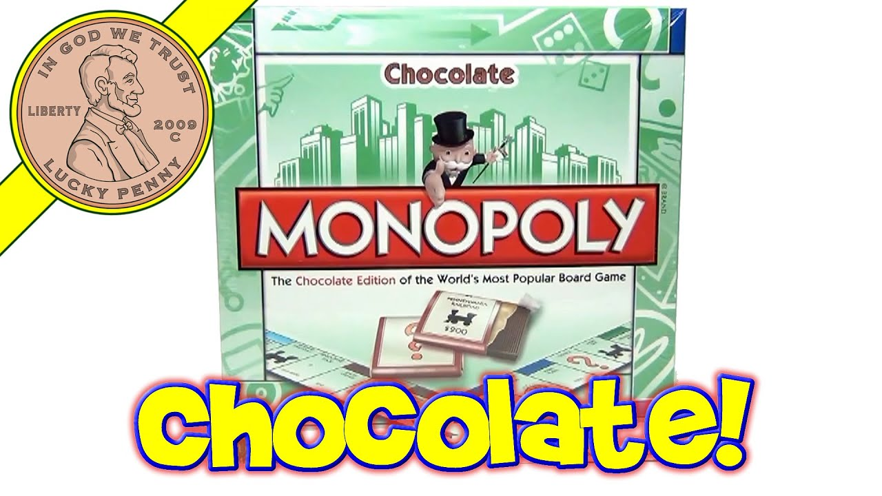 Monopoly Chocolate Edition Board Game Can s Unique Candy Tasting