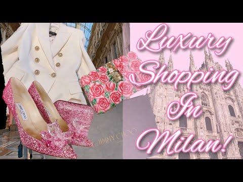 👛Luxury Shopping In Milan! 👛Jimmy Choo, Balmain & More! 💗