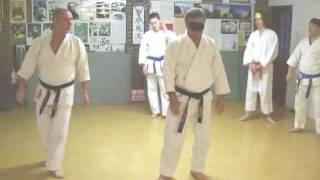 Tom Hill's Karate Dojo; Blindfold training, touch & intention sensitive