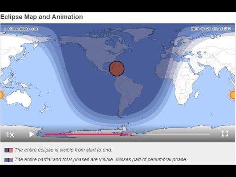 Blood Moon Total Lunar Eclipse 21st Jan 2019 U S A Atlantic Youtube