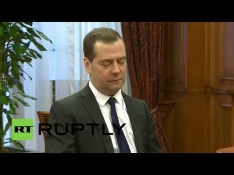Russia: Medvedev instructs Gazprom CEO to monitor gas supplies to Ukraine