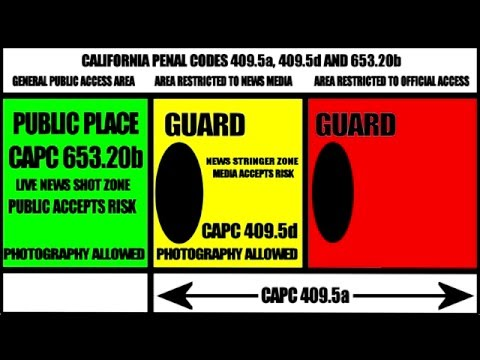 CA PENAL CODES PUBLIC SPACES POLICE LINES AND NEWS MEDIA ACCESS