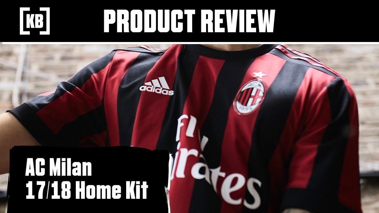 0c26ea1d732de AC Milan 17/18 Home Kit Product Review | Kitbag