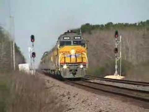Union Pacific DDA40X 6936 on Inspection Train in Texas