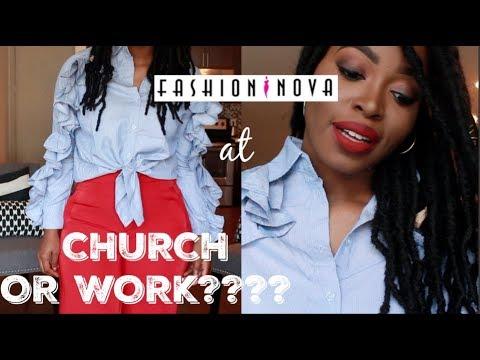 CAN I wear FASHION NOVA to CHURCH or WORK?? | ISSA TRY ON HAUL/ MY MUSIC PLAYLIST