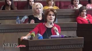 Հեղինե Բիշարյանի զգացմունքային ելույթը կանանց միության համագումարի ժամանակ