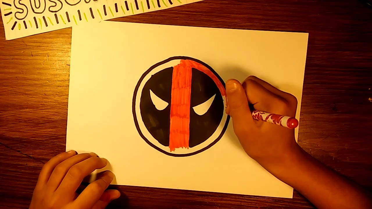 Como dibujar el Logo de DEADPOOL - YouTube
