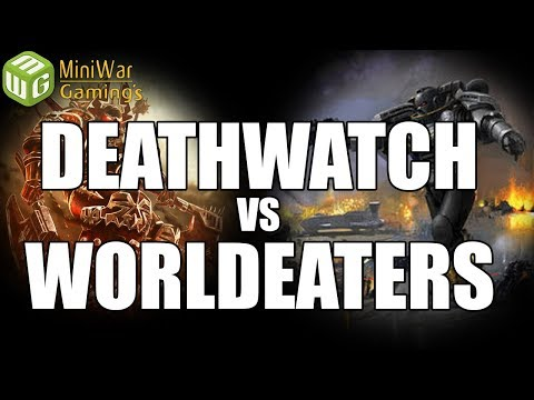 Retrospective Review - NEW Deathwatch vs World Eaters Warhammer 40k 8th Edtion Battle Report