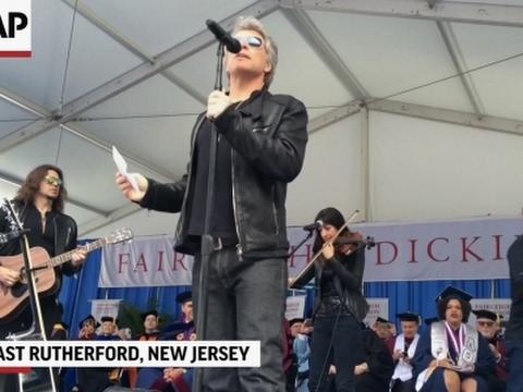 Bon Jovi surprises grads with commencement show
