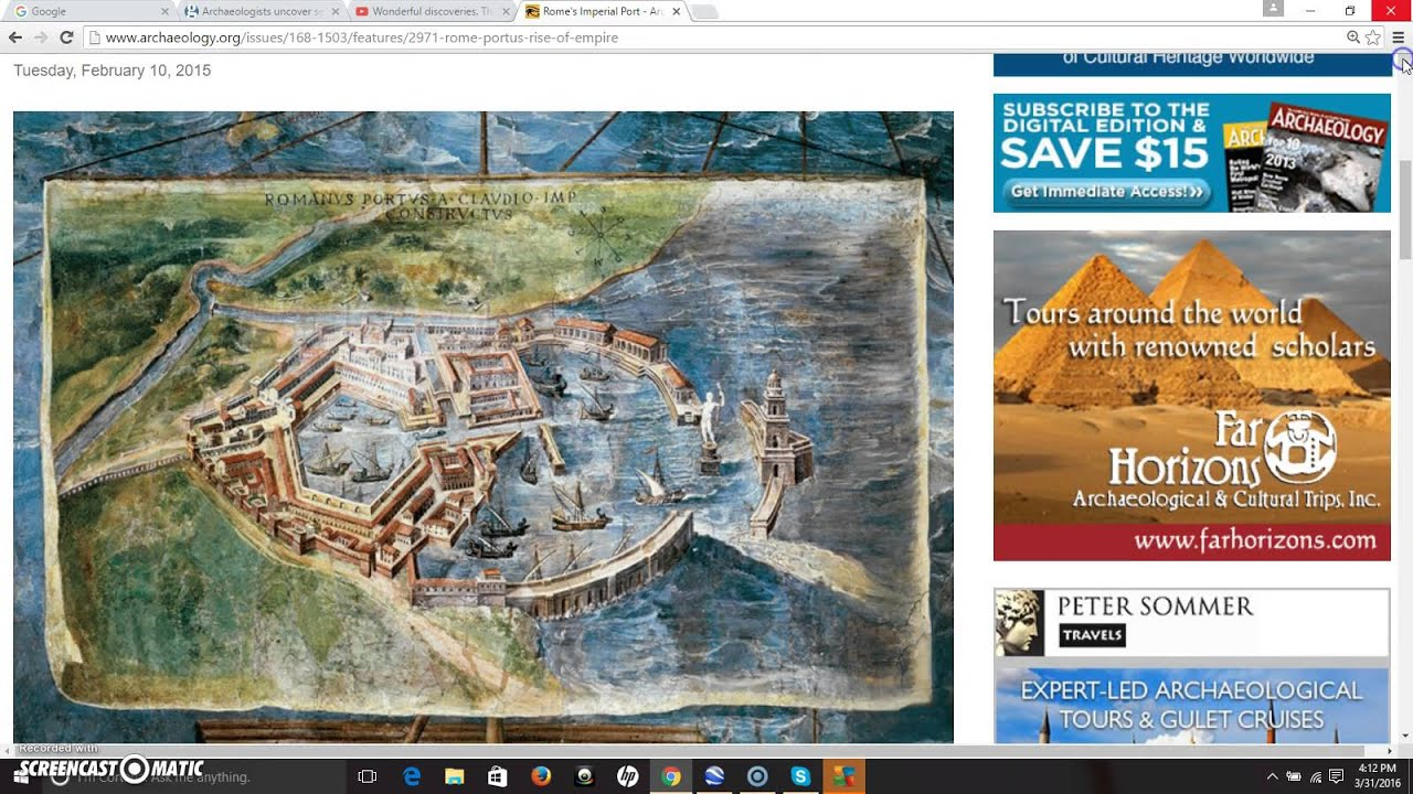 Portus ~ A Key To The Roman Empire
