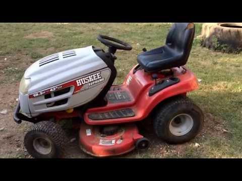 2004 huskee supreme riding mower - YouTube