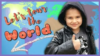 Travel the World with the Kids of YouTube!   Visit Hollywood, Philippines, Australia, Spain & More!
