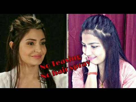 messy-puff-hairstyle-inspired-by-anushka-sharma||how-to-make-messy-halfup-half-down-hairstyle