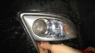 Как поменять лампочку в габаритах и противотуманной фаре mazda cx-7