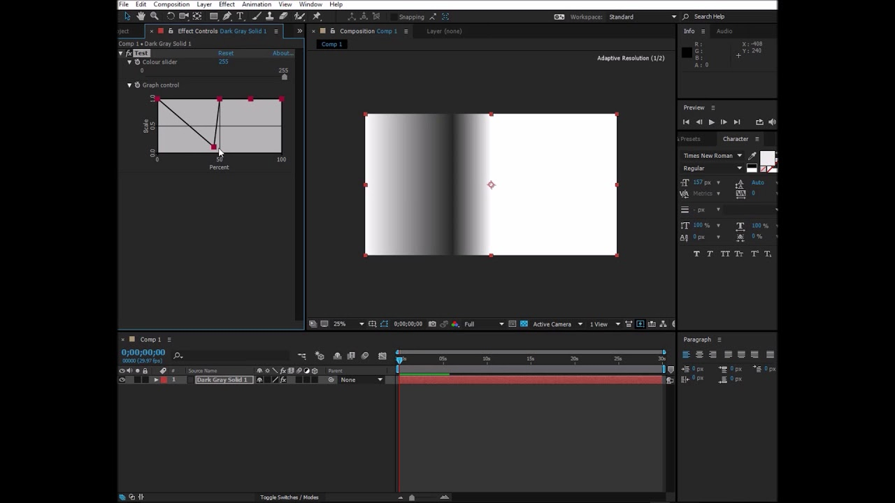 After Effects Plugin Video - Custom Graph Control