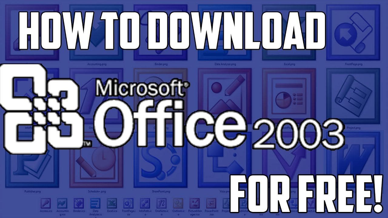 How to Download Microsoft Office 2003 for FREE on PC!