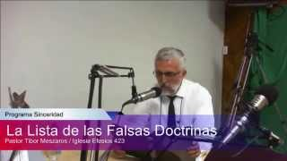 La lista de las falsas Doctrinas
