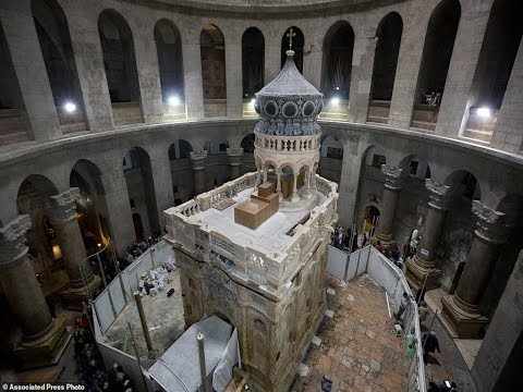 The Jerusalem Tomb Of Jesus Restored Historic Shrine That Houses The Cave Where It Is Said Christ