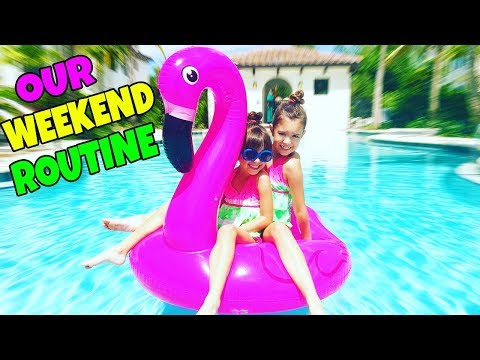 WEEKEND ROUTINE - Our Morning and Night Routine on the Weekends | Emily and Evelyn