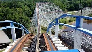 Great American Scream Machine Front Seat POV 2015 FULL HD Six Flags Over Georgia