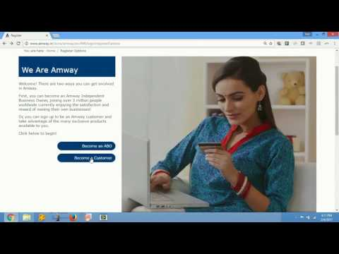 How to register on Amway India website