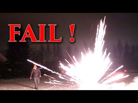 Fireworks Fail - Happy New Year from Sammie and Arcadius Kul