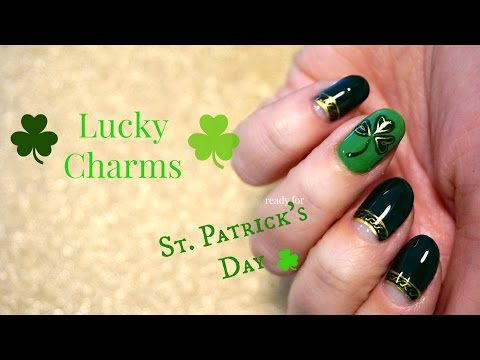 Nails for St Patrick's Day | tutorial